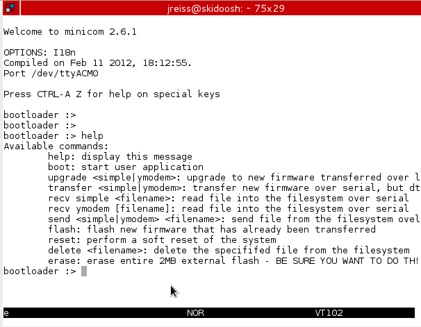 MultiTech Developer Resources » Topic: How to upgrade mDot